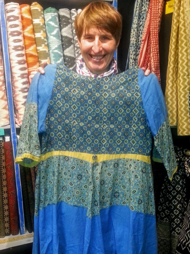 robe en coton imprimé