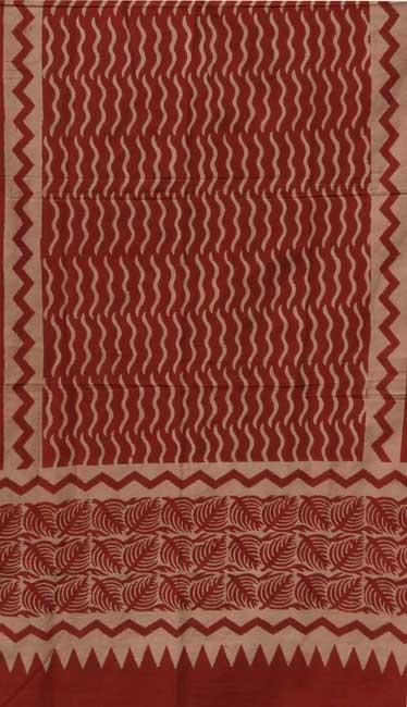 echarpe Batik rouge detail