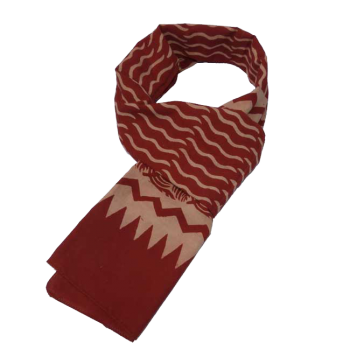 echarpe batik rouge