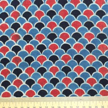 blue red fabric