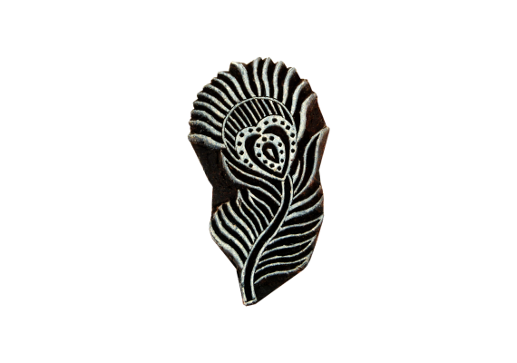 Motif plume de paon