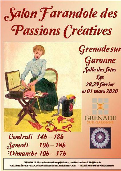Farandole des passions créatives 2020