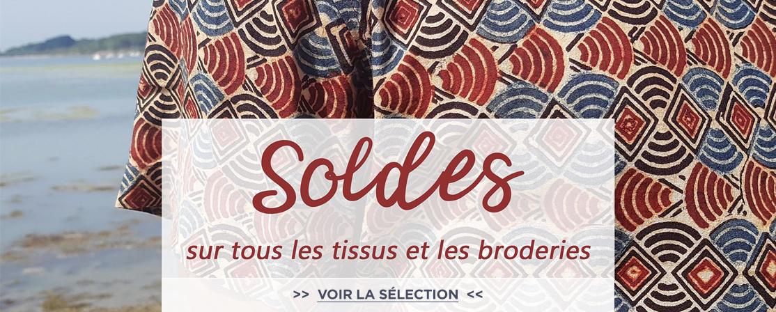 soldes tissus broderies