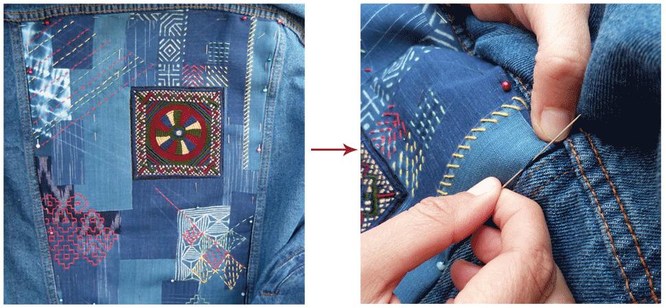 customisation de veste en jean