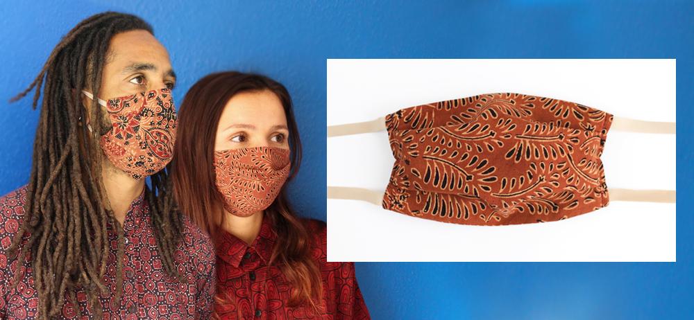 Masque à plis porté
