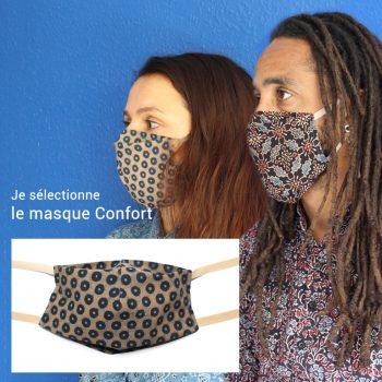 Masque en tissu - modèle Confort