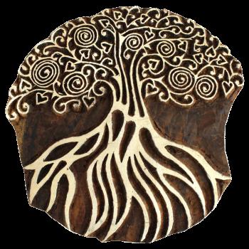 Tampon Grand Arbre avec racines