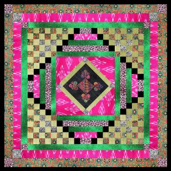 Kit de patchwork Ama cyclamen