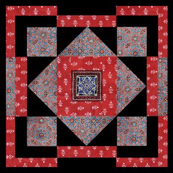 Kit de patchwork Dhordo cobalt