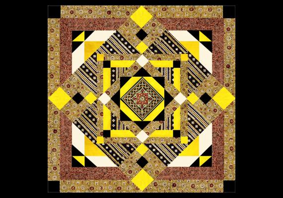 Kit de patchwork Kuma mimosa
