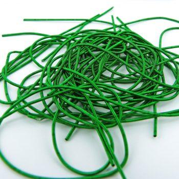 Cannetille lisse vert émeraude mat