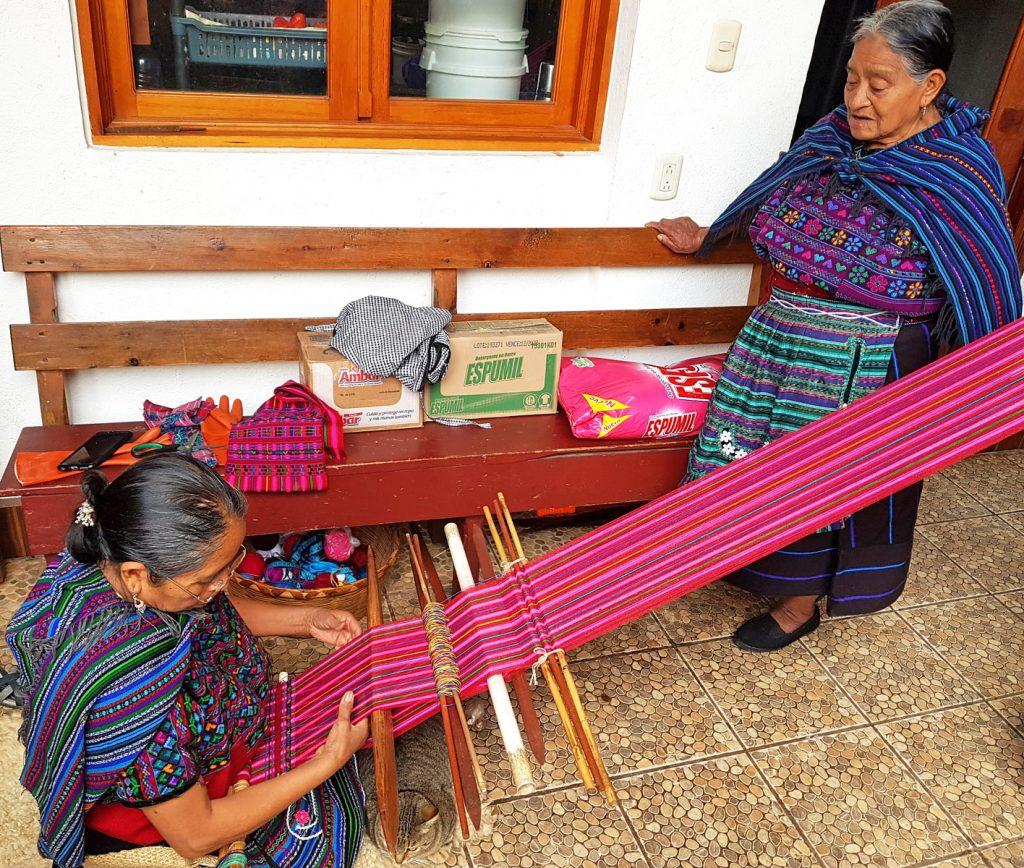 Tissage à Todo Santos - Guatemala