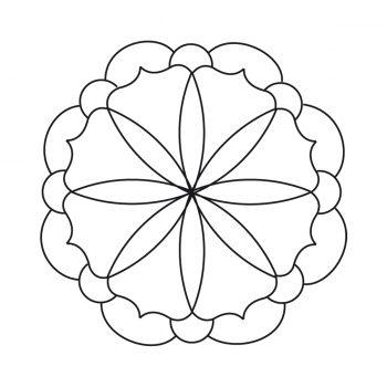 Motifs à broder Mandala