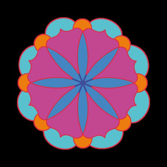 motif Mandala en couleurs