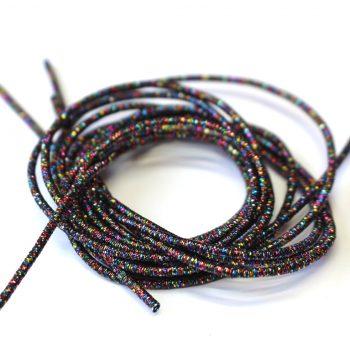 La cannetille scintillante Noire multicolore