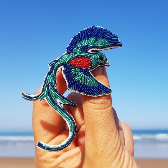 Détail du Kit de broche Quetzal